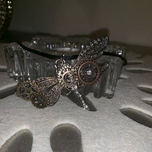🎃 Steampunk Dragonfly Necklace